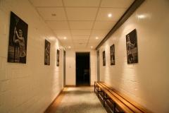 Zugang Umkleiden und Halle